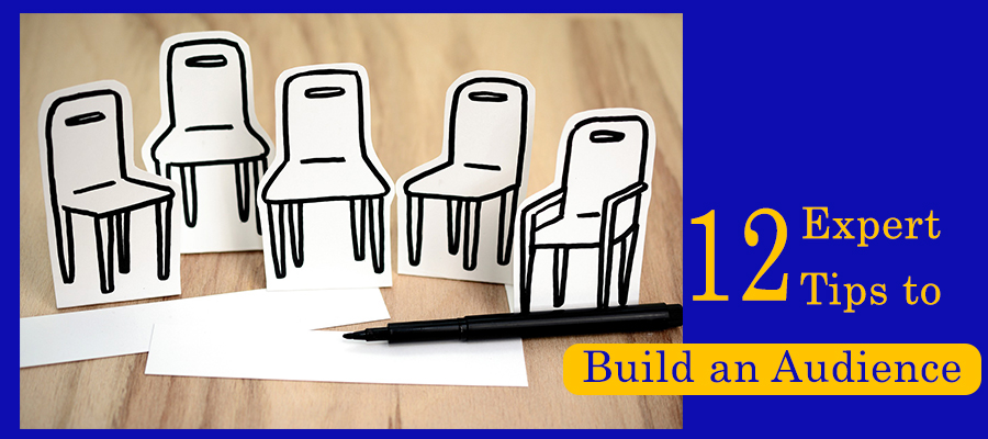 12 Expert Tips to Build an Audience